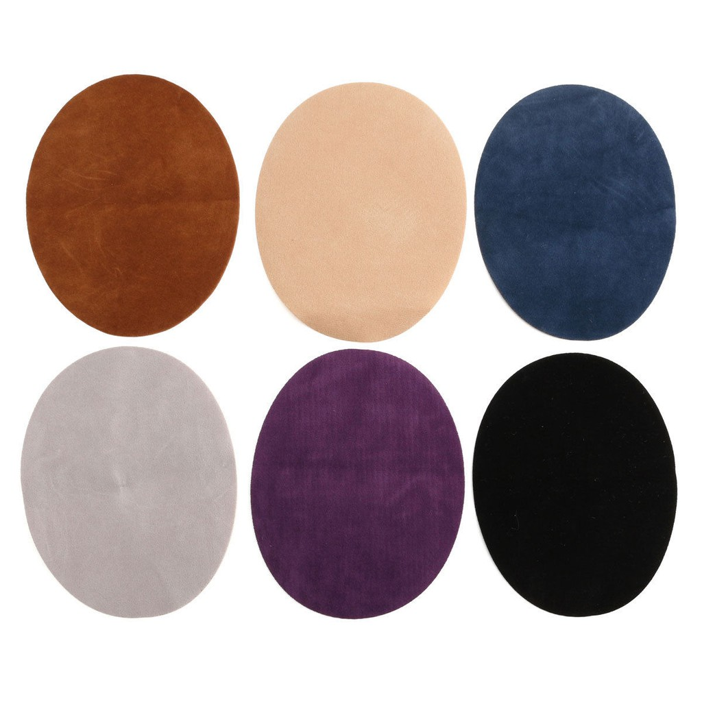 Meoliny Oval Suede Patches Fabric Elbow Knee Patches Repair Sewing Fabric Bag Clothing Accessorie,Black