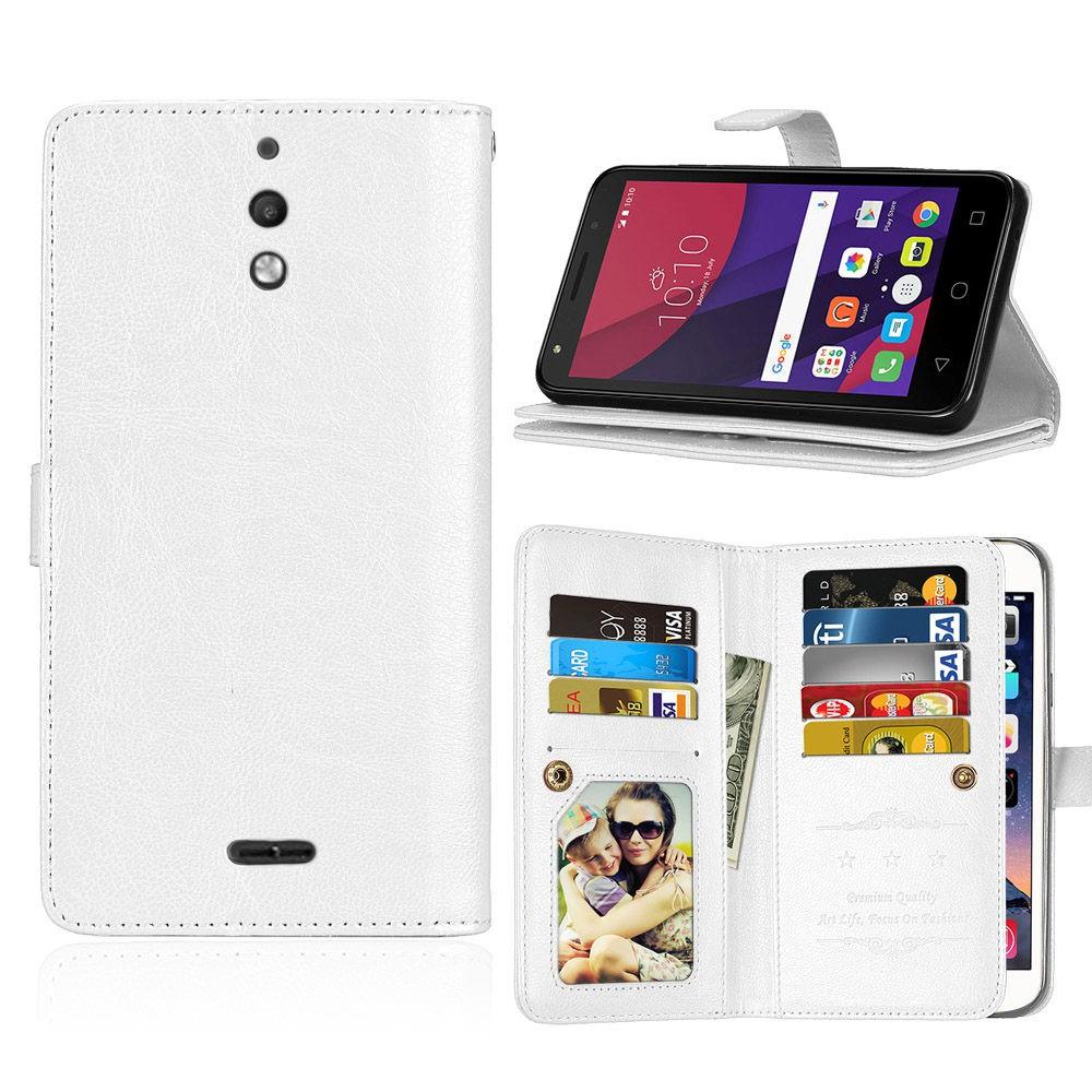 hot sales bbf6d 9869a alcatel Pixi 4 (6) 3G Phone Case Cover White Cardslot