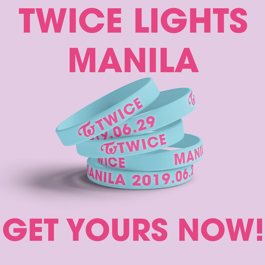 TWICE Concert Baller Silicone Wristband Be As One Campaign