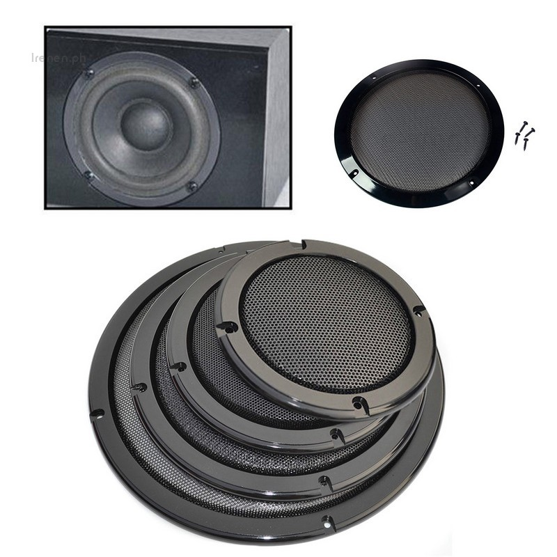 """4/""""//5/""""//6.5/""""//8/""""//10/"""" inch Speaker Cover Decorative Circle Metal Mesh Grille /<White/>"""