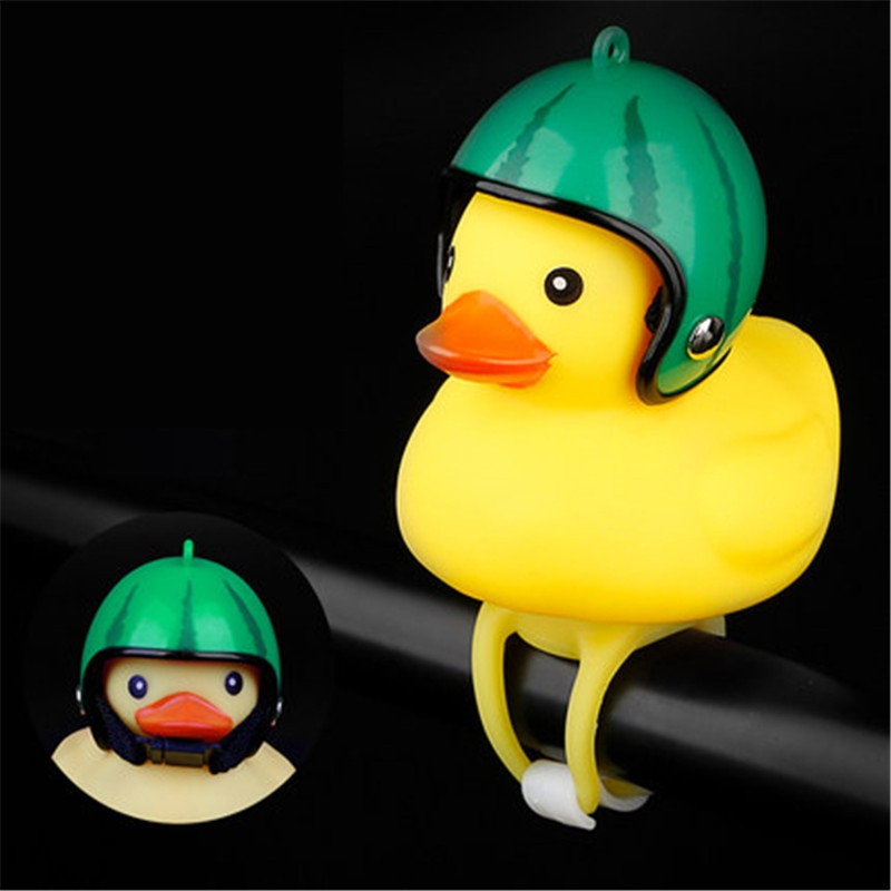 Small yellow duck headlight horn broken wind duck rotating bamboo raft duck bell