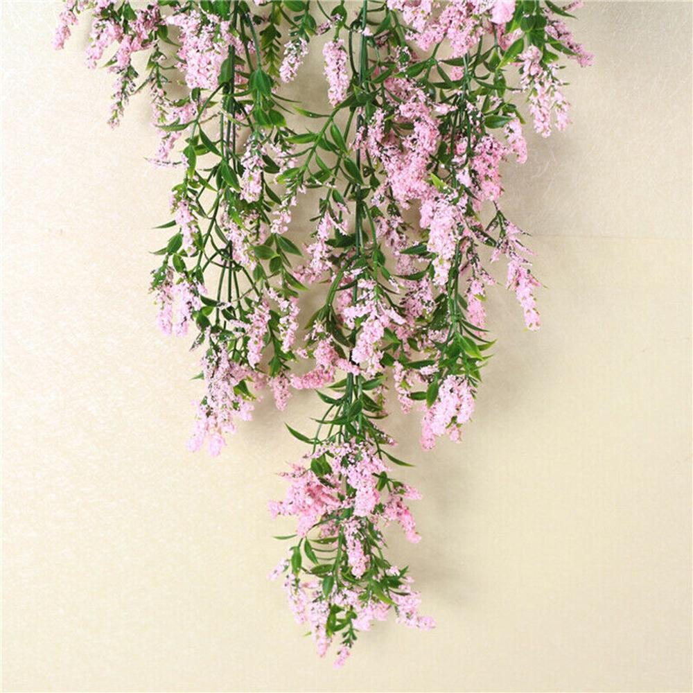 Home Furniture Diy 31 5 Artificial Lavender Vine Flowers Garland Ivy Wall Hanging Home Decor Sw Kisetsu System Co Jp