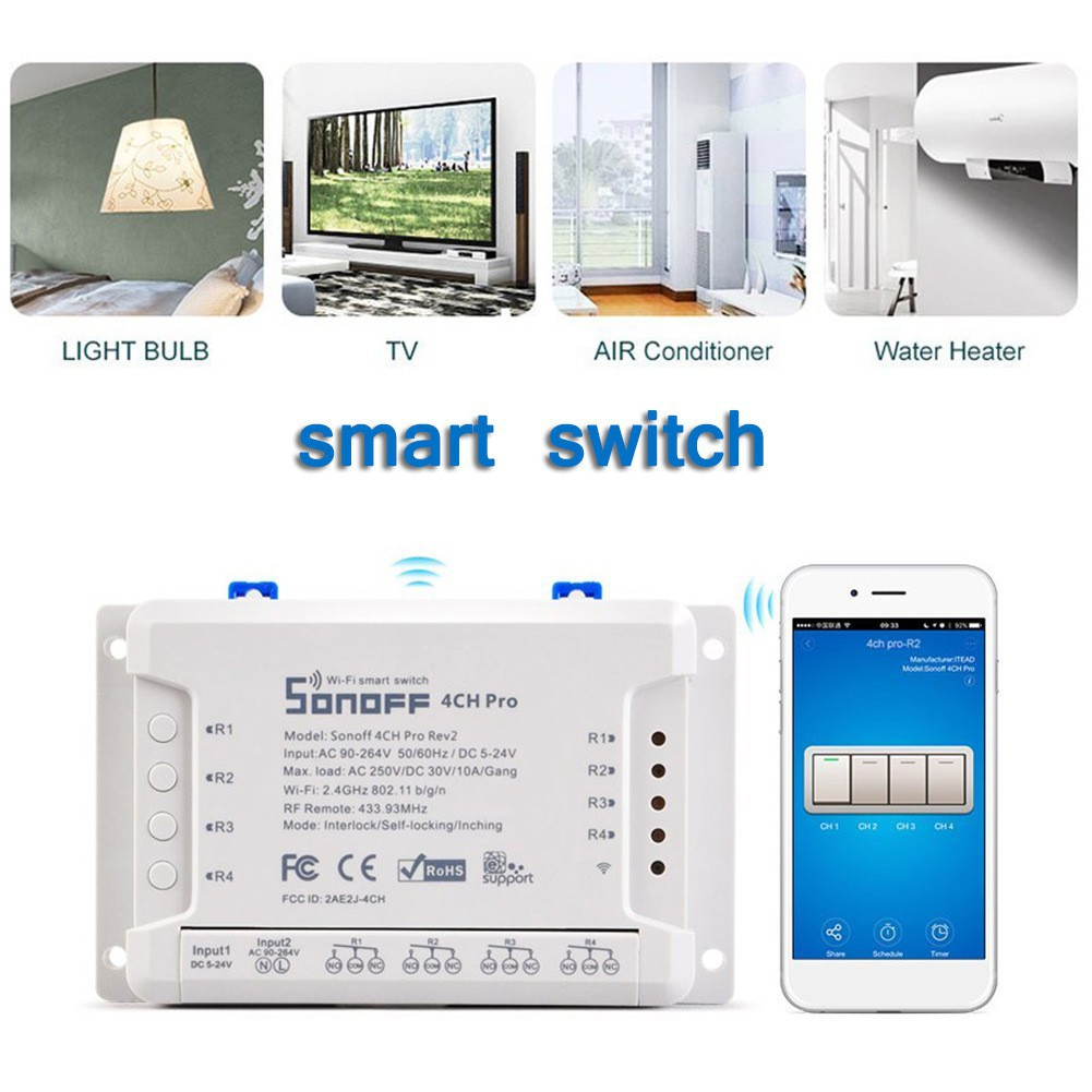 Sonoff 4CH Pro R2 smart Wifi switch Gang 3 working mode and