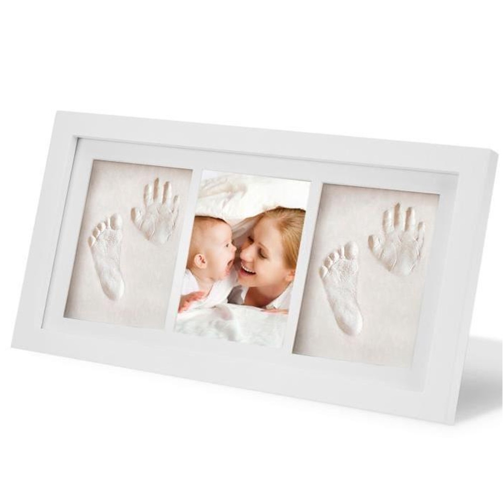 First Ph... Baby Gift Picture Frame Kit Footprint or Handprint Memory Keepsake