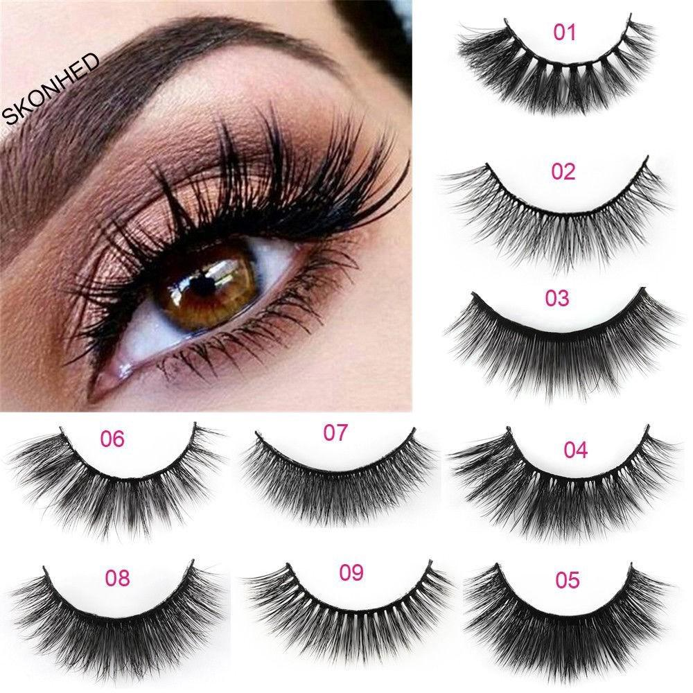 e66ce5f3f12 5 Pairs Beauty Makeup False Eyelashes Long Thick Natural Eye Lashes ...