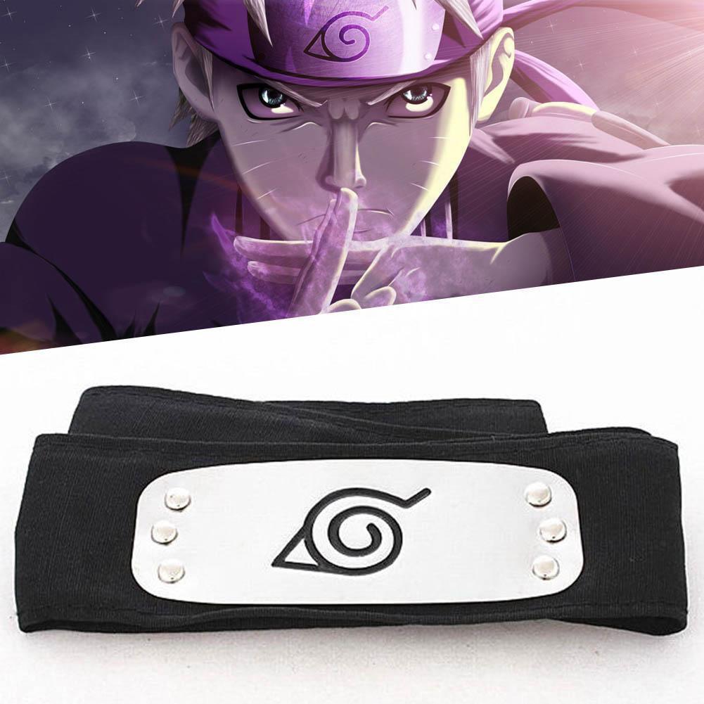 NEW Naruto Kakashi Sasuke  Leaf Village Ninja Headband Cosplay Anime Set Of 4 !