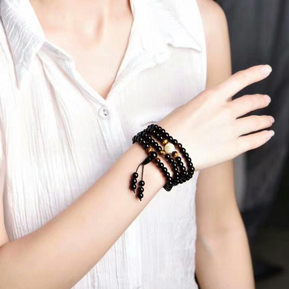Black Sleep Aid Magnetic Therapy Obsidian Bracelet Original Luminous 78cm