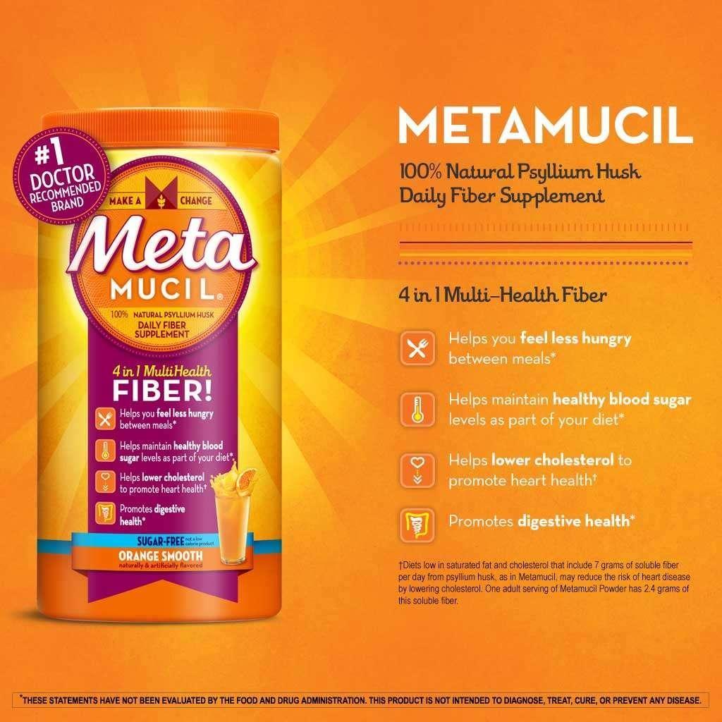 Metamucil sugar free Fiber Psyllium