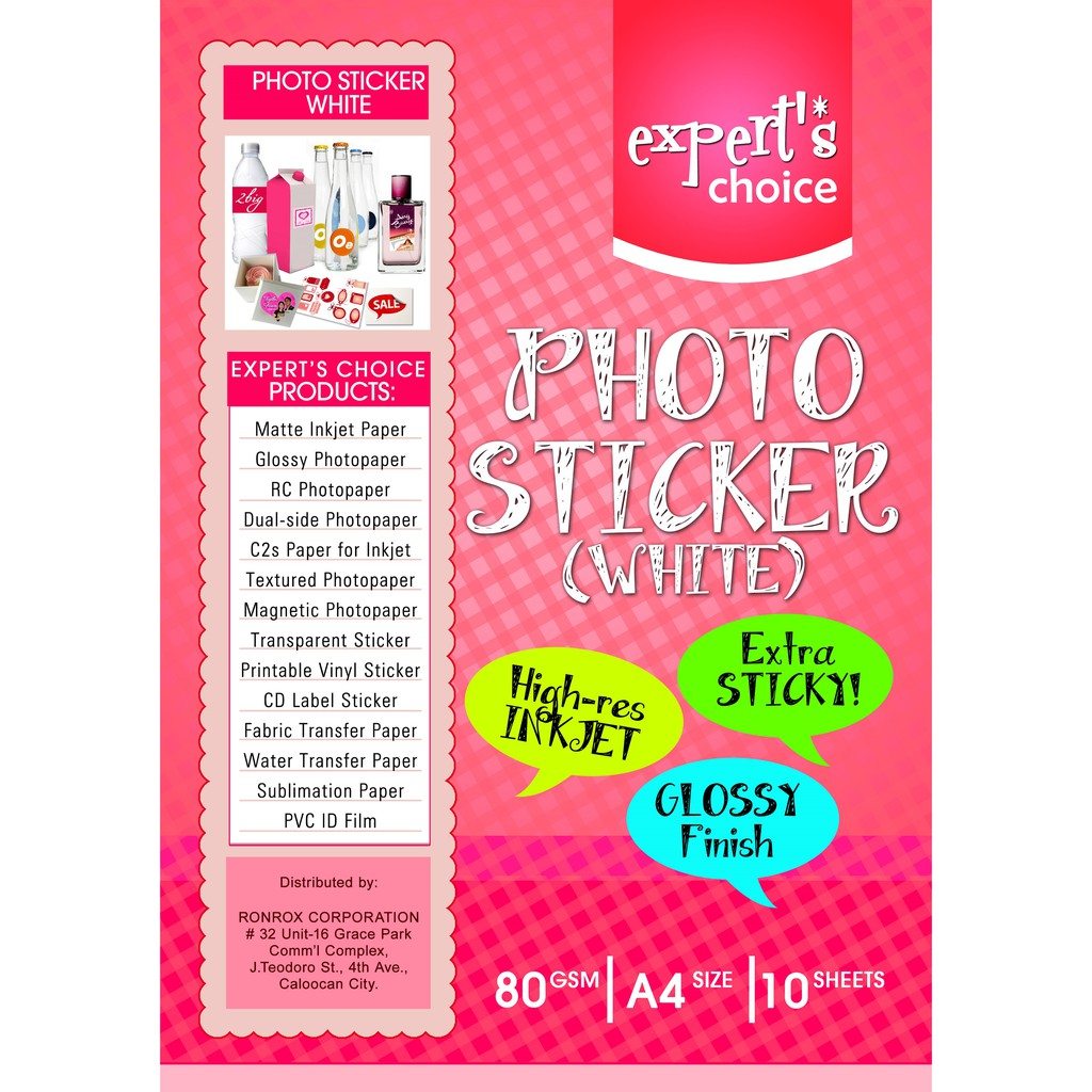 image relating to Sticker Printable Paper referred to as Sticker Photopaper Specialists Alternative