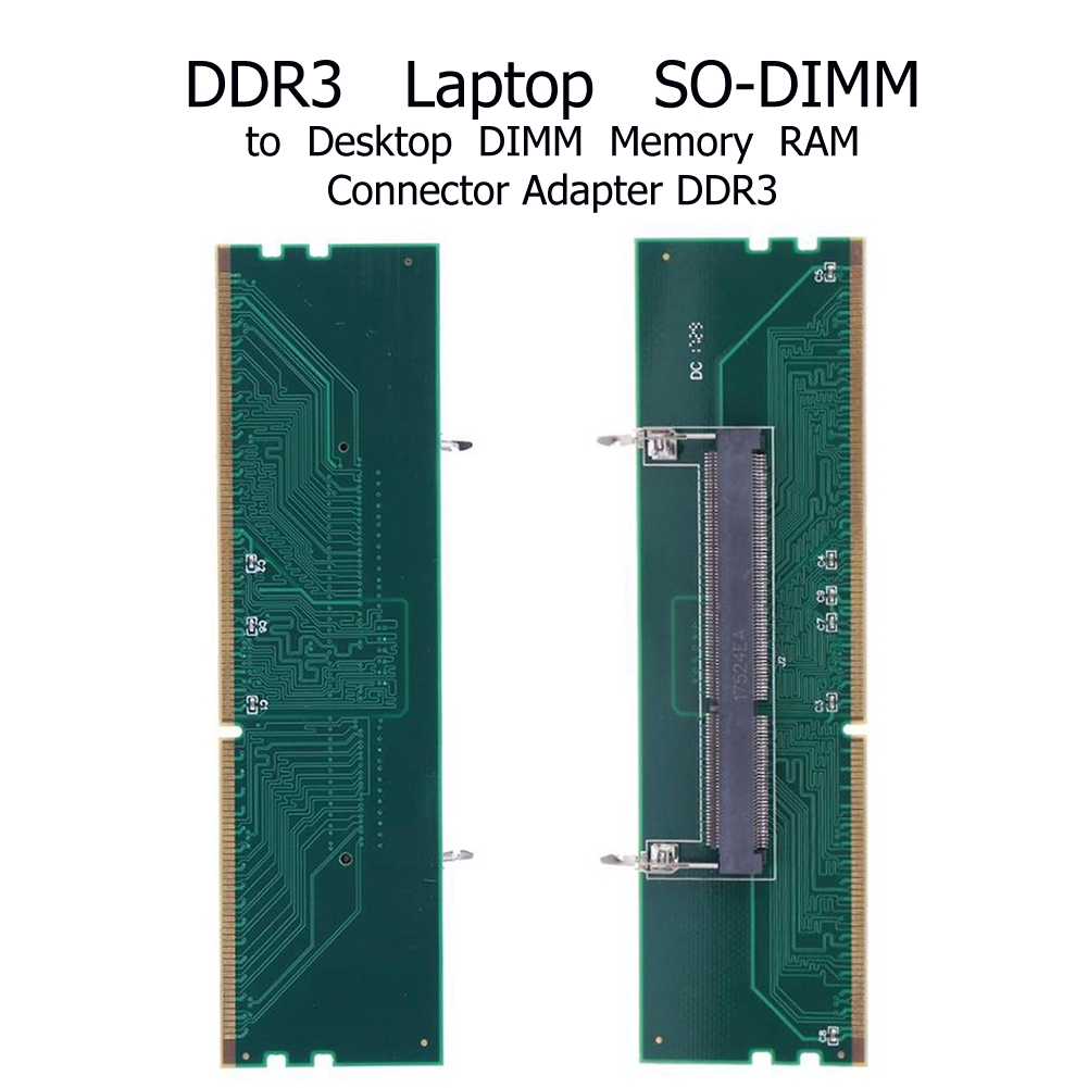 DDR3 204 Pin Laptop SO-DIMM to Desktop DIMM Memory Connector R-AM Adapter Tool