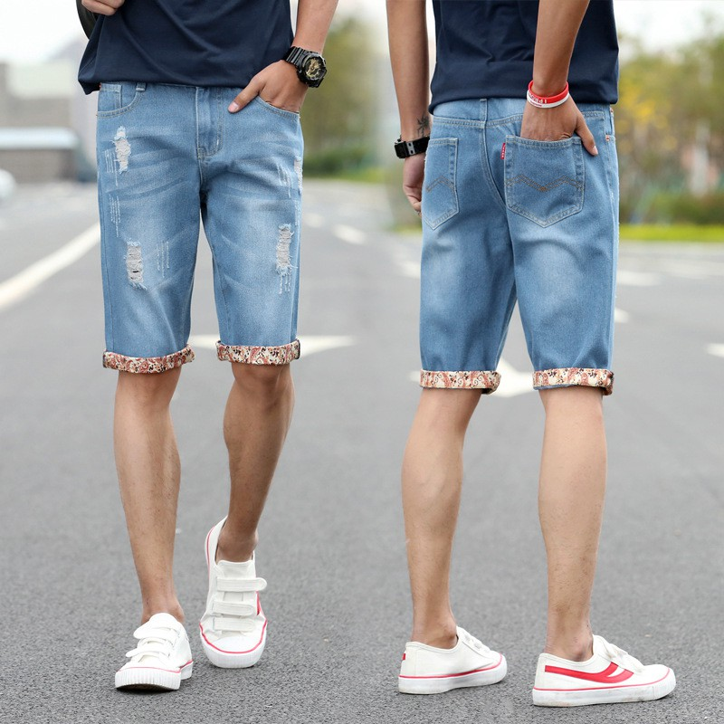 Mens Jeans With Hole Men Summer Shorts Casual Men Short Jean