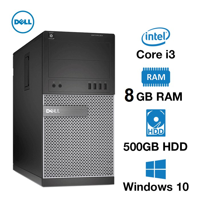 300pcs Dell Core i3 Gen2 8gb 500gb Complete PC For Only 6,500