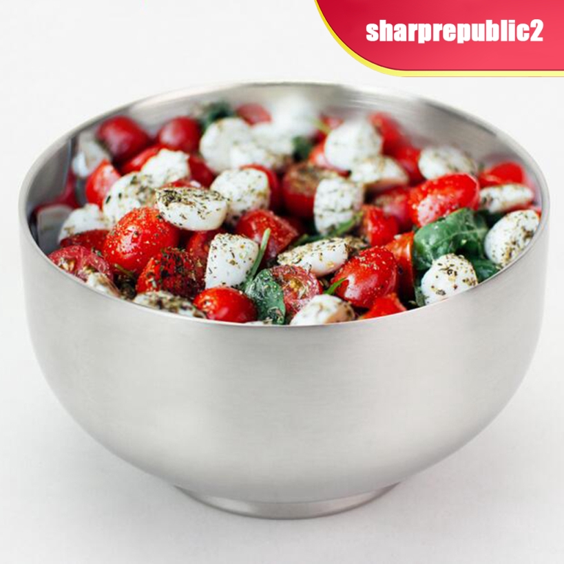 Stainless Steel Cereal Bowl// Noodle Bowl Salad Soup Rice Bowls Double Wall