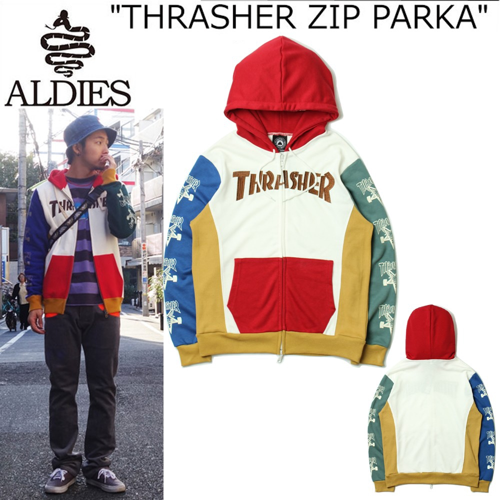 Ready stock men and women Thrasher x ALDIES Hooded sweater  a2a686eaa