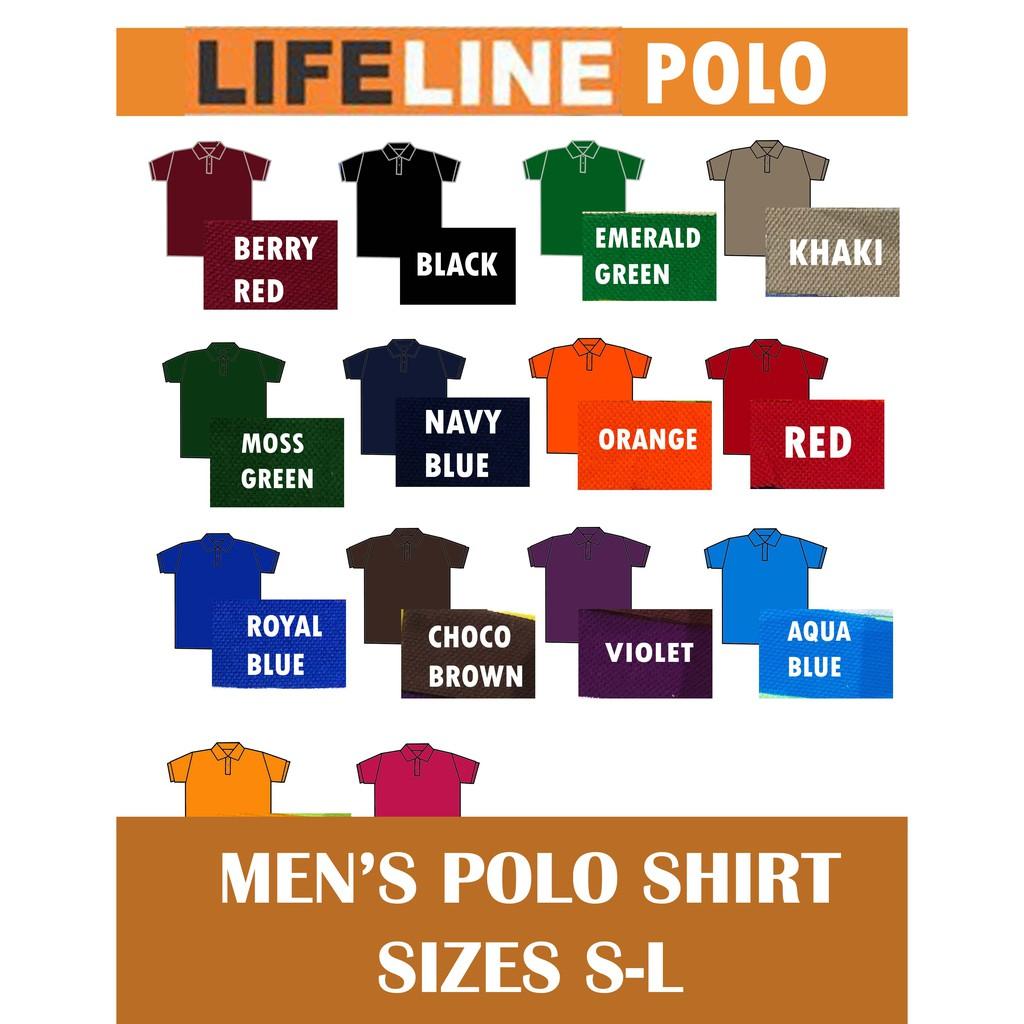 Lifeline Men S Polo Shirt S M L
