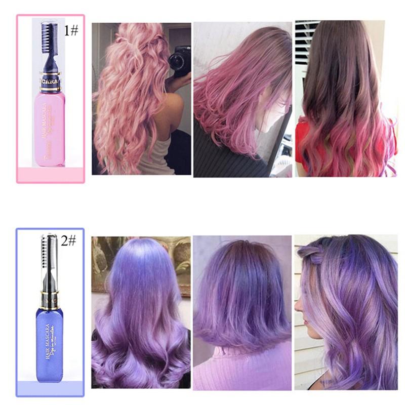 Teayason Temporary Pigments Hair Chalk Non Toxic Hair Dye Mascara Diy Tool