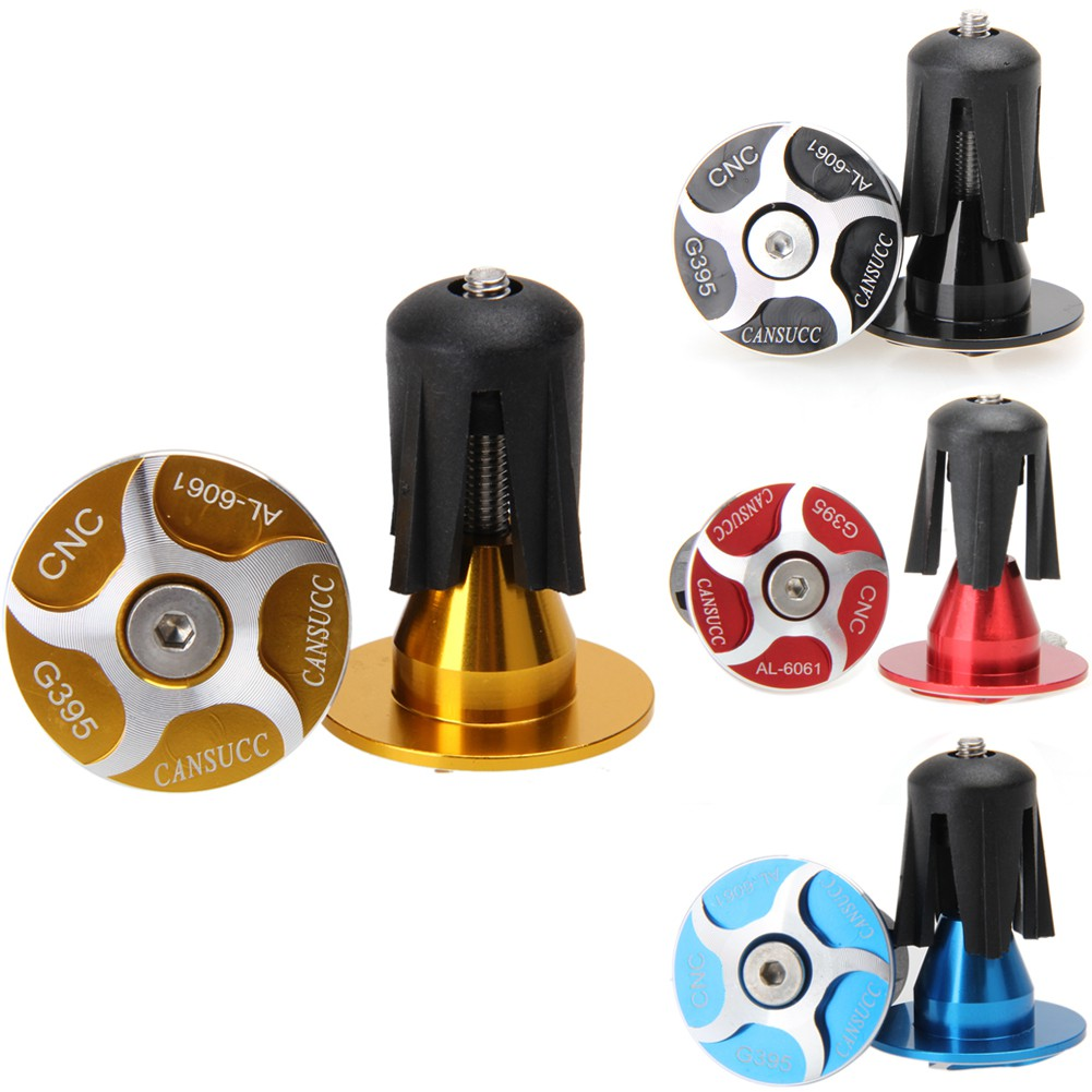 CANSUCC Bike Road Cycling Handlebar End Plugs Bar Grips Cap Covers Bicycle Tips
