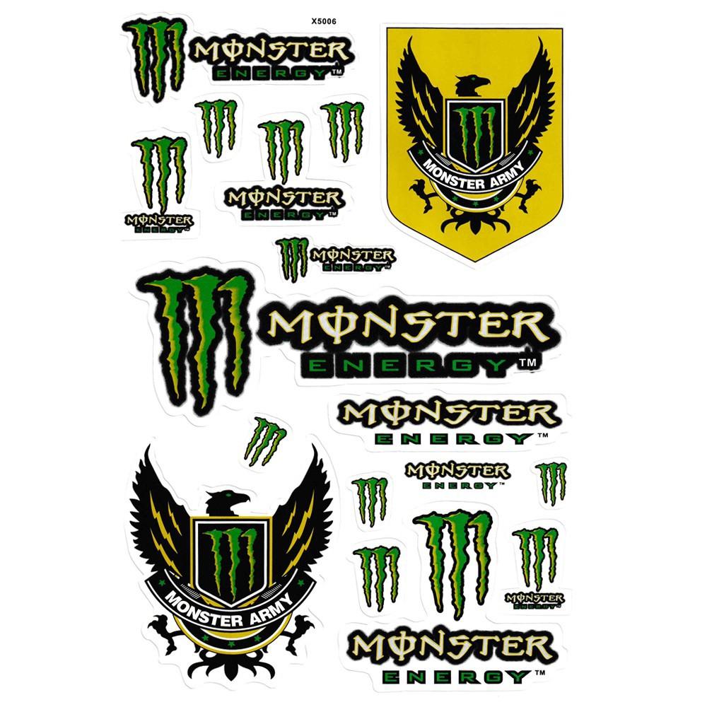 10 Set Monster Energy Motor Sticker Car Decal Shopee