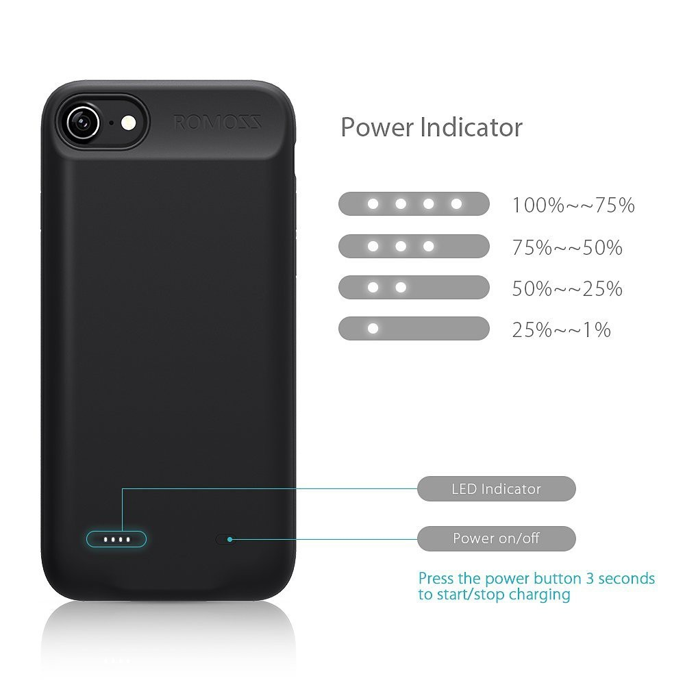 wholesale dealer 657a1 4c5cc ROMOSS Encase Battery Case for iPhone 7 / 8 and 7 / 8 Plus   Shopee ...