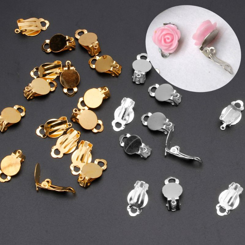 Plated Brass Metal Craft Bookmark Money Clip Finding With Flat Pad For Cabochons