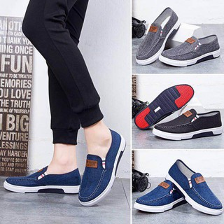 jys men's denim made casual wear rubber shoes canvas