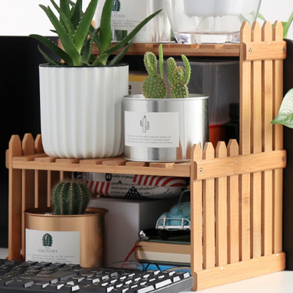 Plant Shelves Flower Garden Rack Stands Display Bamboo Wood Storage Rack Holders