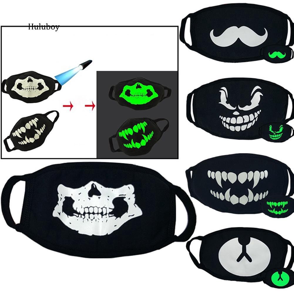 Unisex Black Bear Cosplay Party Outdoor Cool Anti Dust Cotton Mouth Mask