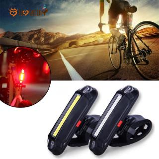 1X USB Rechargeable COB LED Bike Bicycle Cycling Front Rear Tail Light LED Lamp