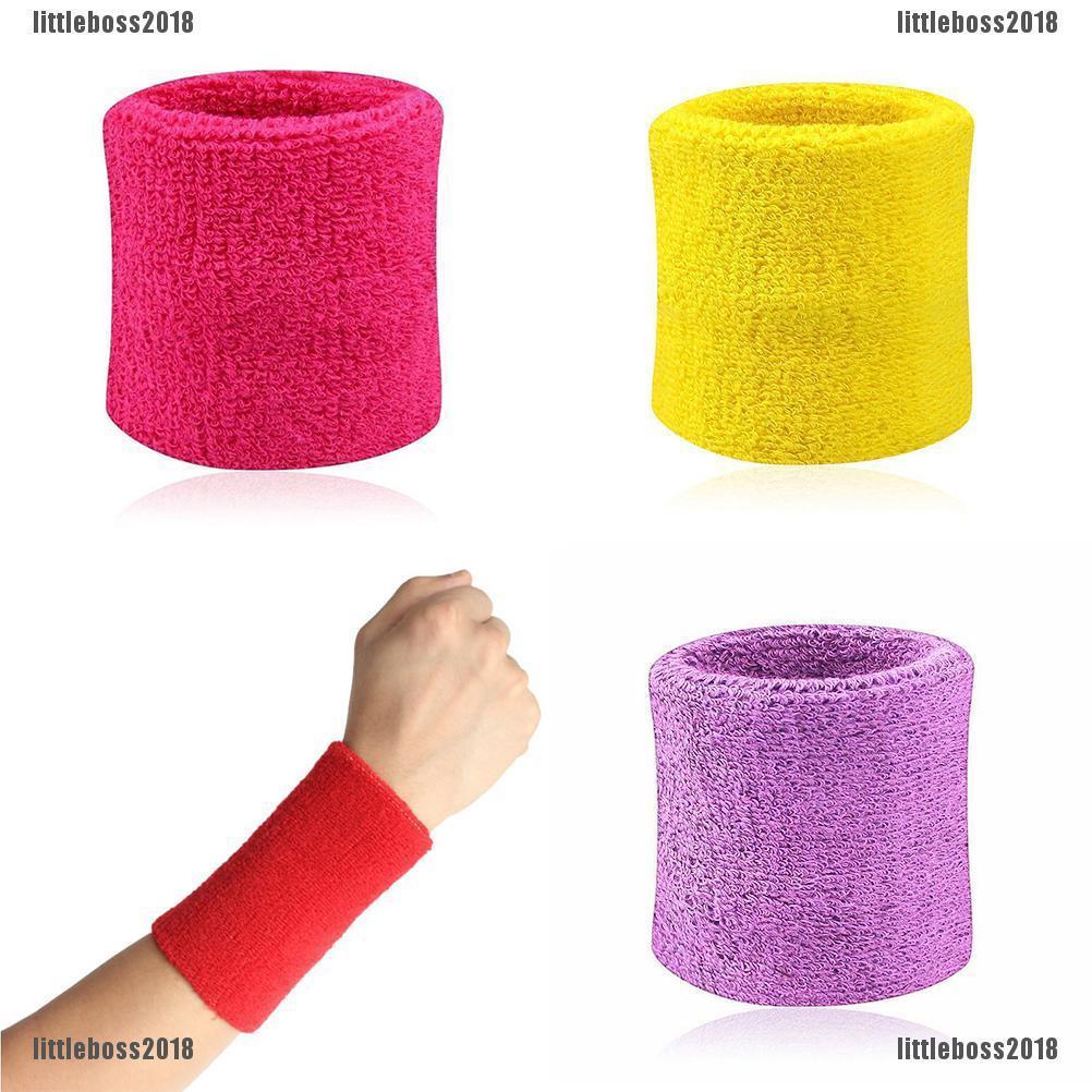 2x Sport Sweatbands Wristband Tennis Squash Badminton Gym Football Wrist Band OC