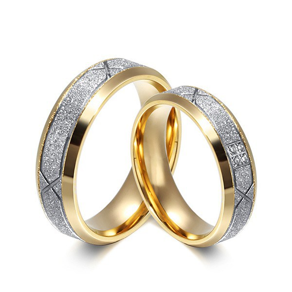 765dc08eef Couple's Ring Set Ring Stainless Steel Engagement Wedding | Shopee  Philippines