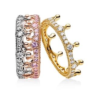 b7d0972af1b9b PANDORA Enchanted Crown Ring rose gold 925 silver diamond | Shopee ...