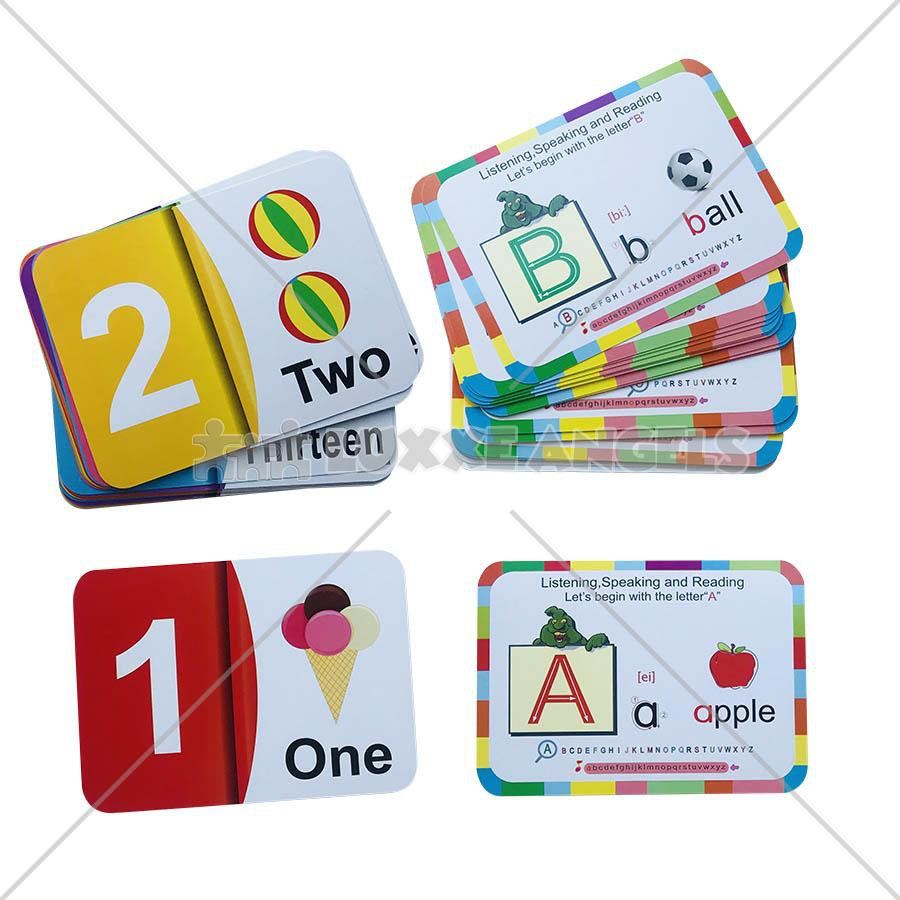 Alphabet And Number Flash Card Educational Learning Fun Game For Kids Toys For Kidstoys Fo