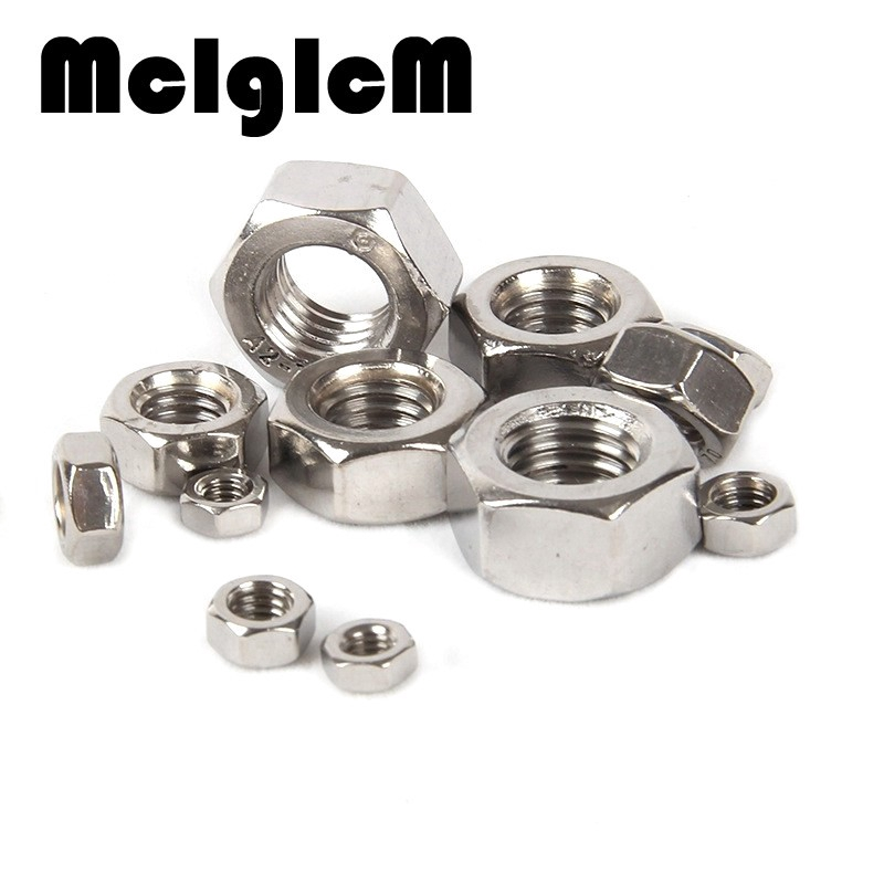 Parts /& Accessories 100PCS//LOT M3 Stainless Steel Hex Nut Hexagon Nuts Metric Thread Suit for Screws Bolts