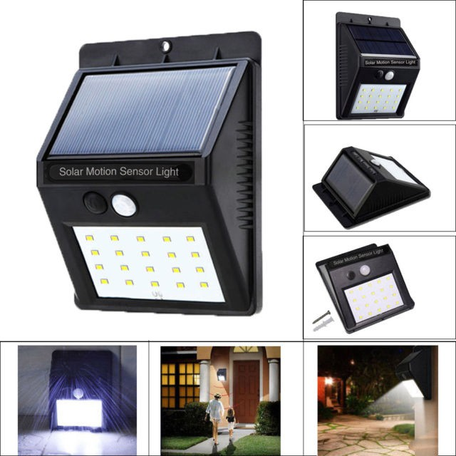 20 Led Lamp Solar Powered Motion Sensor Wall Light Outdoor Shopee Philippines