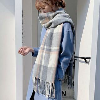 Elegant Men Wool Blend Plaid Scarf Winter Tartan Shawl Warm Long Neckerchief NEW