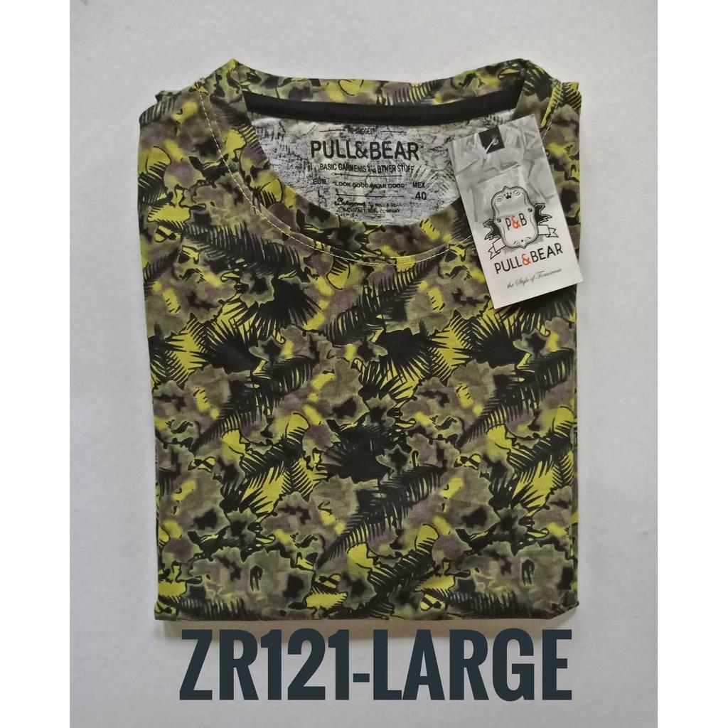 Pull and Bear Unisex Mens Printed Shirt Tees Tops C26(LRG)