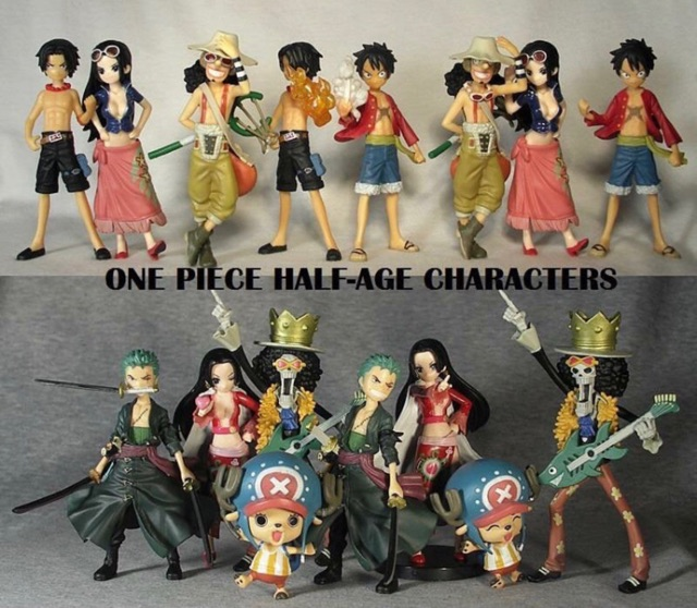 """Bandai One Piece Half Age Characters Volume 2 With Base ~5/"""" Brook"""