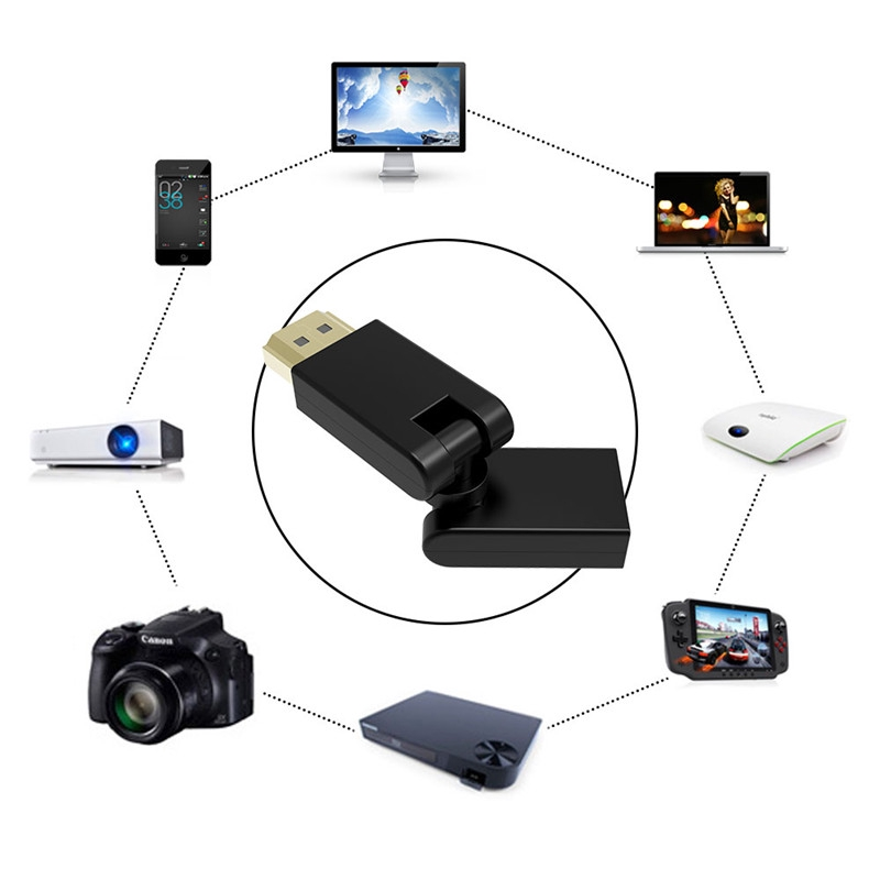 Angle HDMI Male to Fe 360 Adapter For Mirascreen Wireless Display TV Receiver