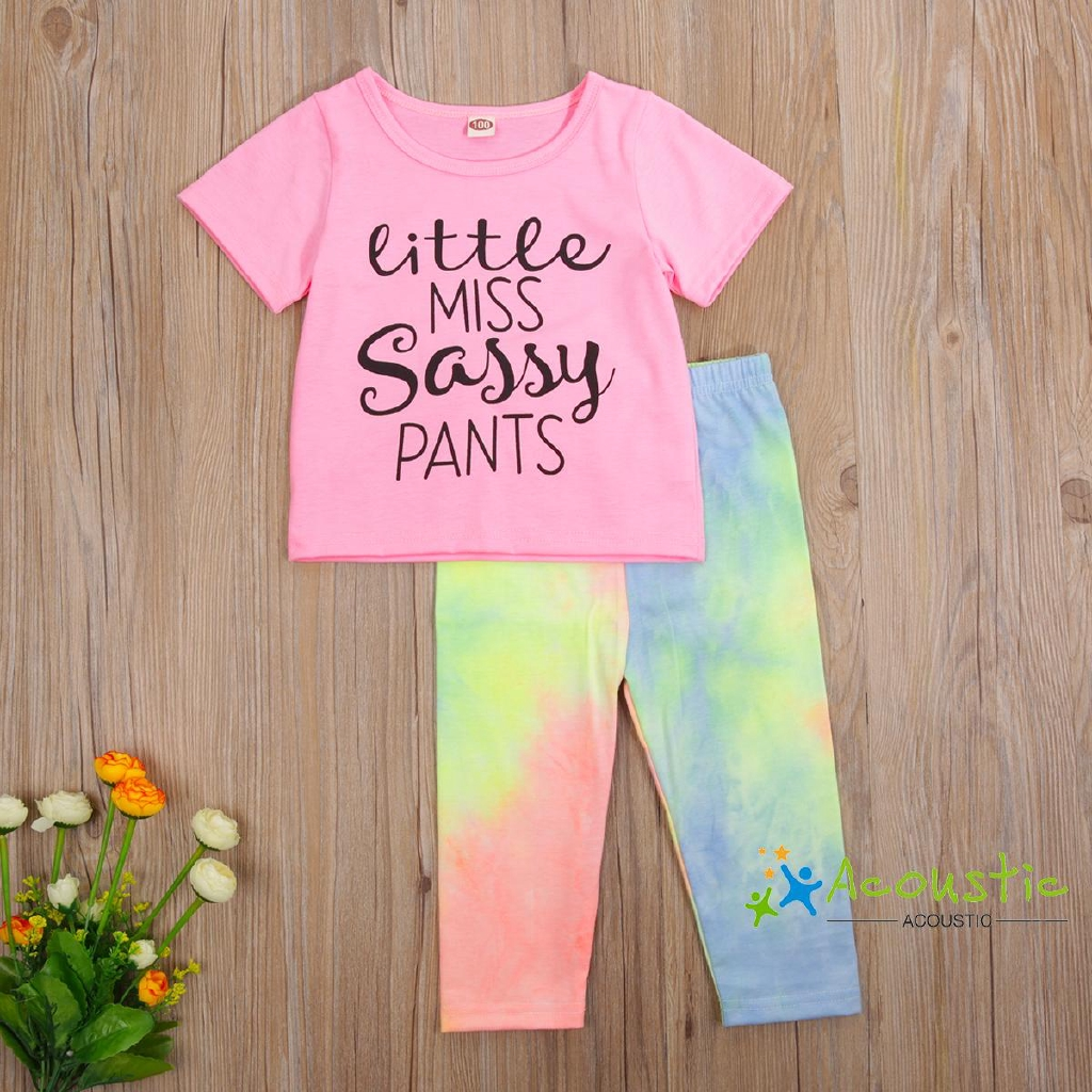 Denim Shorts Outfit Sets 2 PCS Toddler Baby Boys Girls Letters UFO Printed Cotton Cute T-Shirts