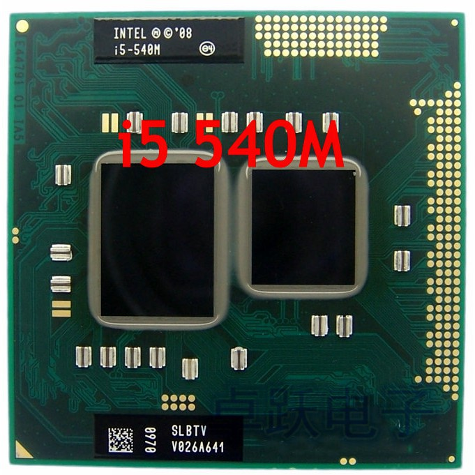 intel i5-540M Cache 2 53 GHz to 3 066 GHz i5 540M PGA988 processor
