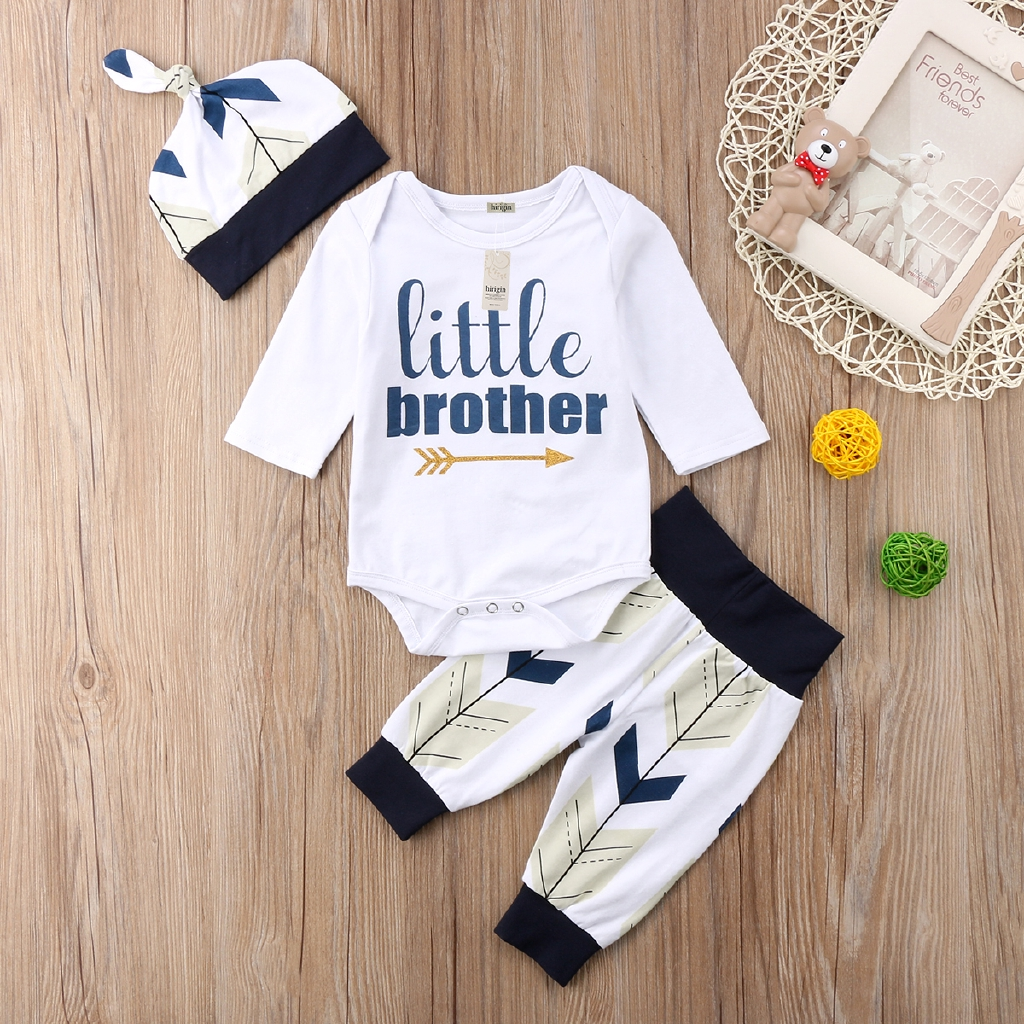 PANTS OUTFIT CASUAL HANDSOME DUDE TRIANGLE PRINT  ST EG/_ BABY BOYS T-SHIRT TOP