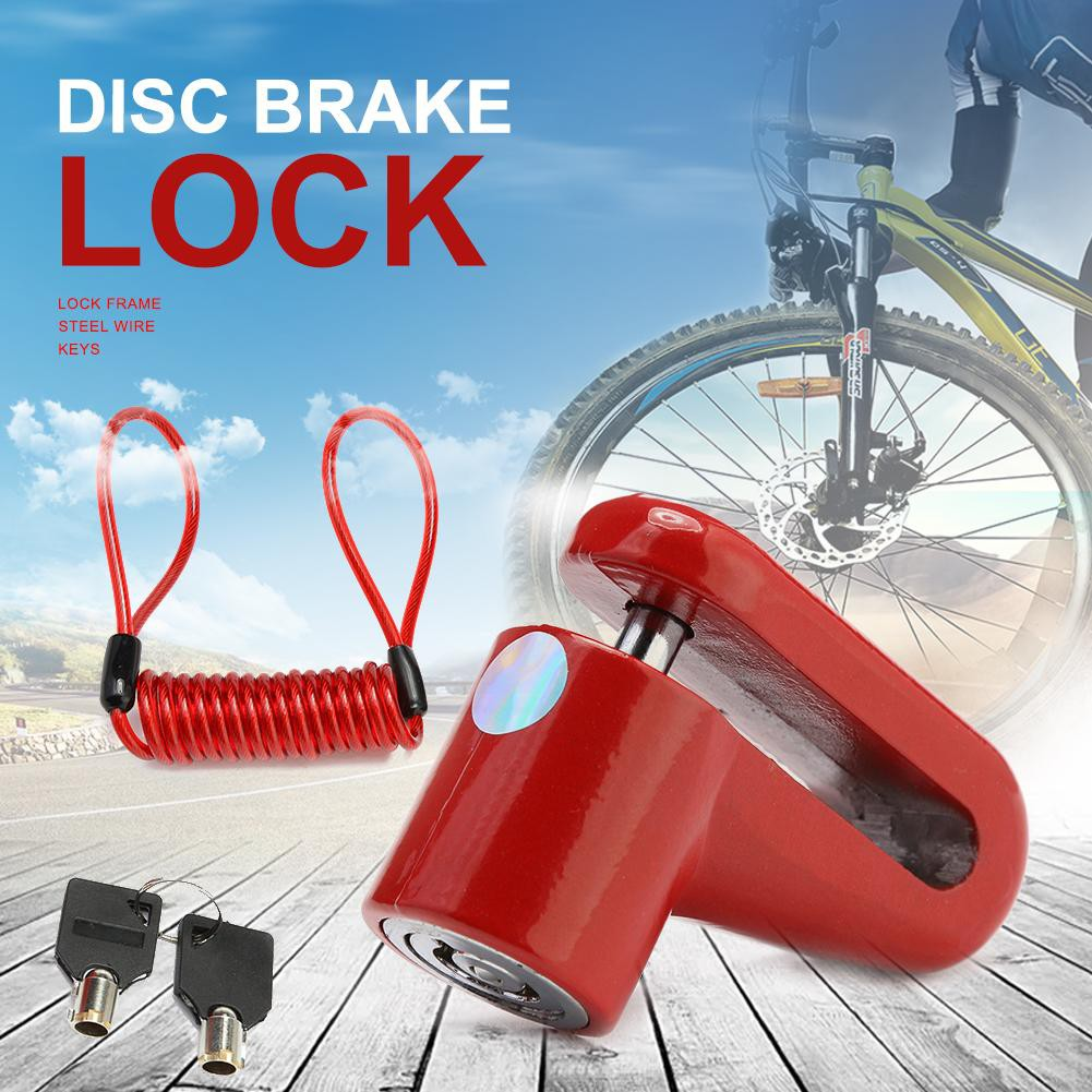 Black L/&6 M365 Electric Scooter Anti-Theft Disc Brakes Lock with Steel Wire
