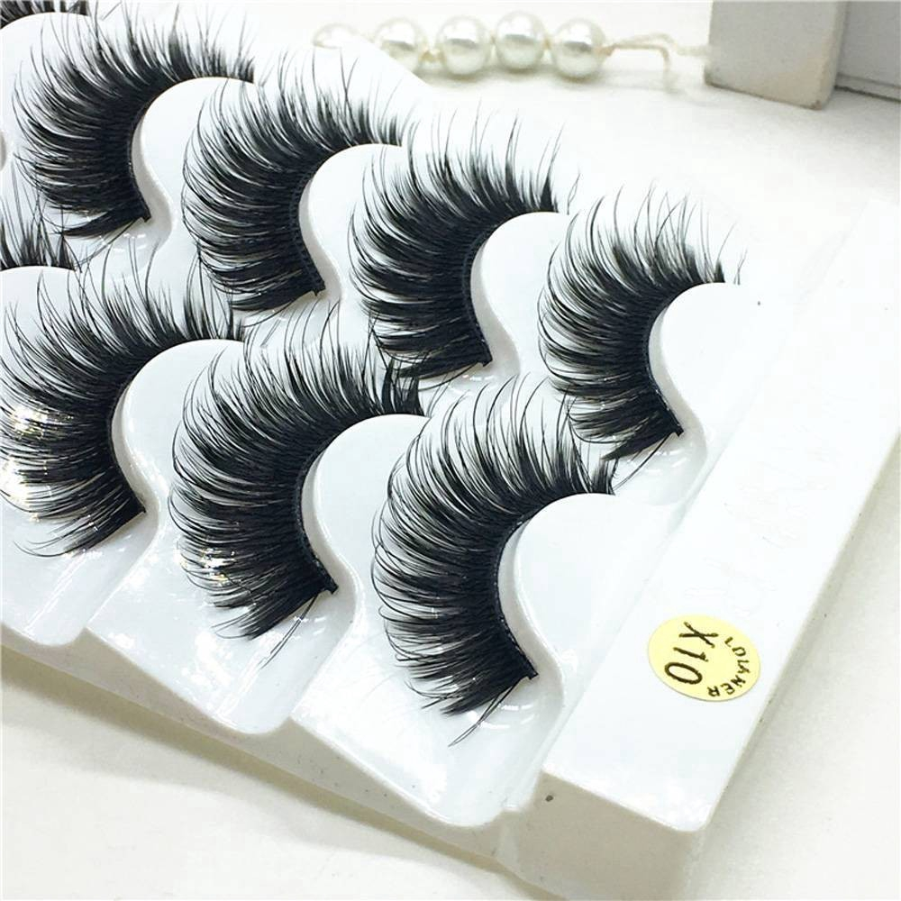 bed2a686720 5Pairs 100% Real Mink 3D Volume Corner Thick False Eyelashes ...