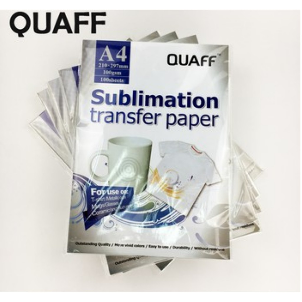 7143362cd 100 Sheets Quaff Sublimation Paper A4 Size for Heat Transfer | Shopee  Philippines