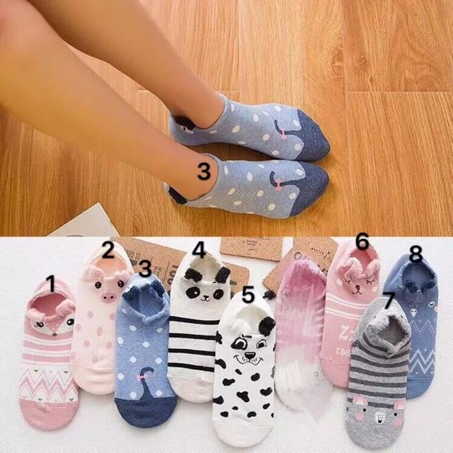 Korea Animals Cartoon fashion socks low cut for women