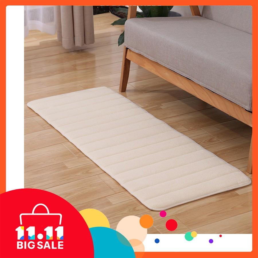 kitchen rug 50 x 120cm front sink runner mat passage bath mat non slip beige