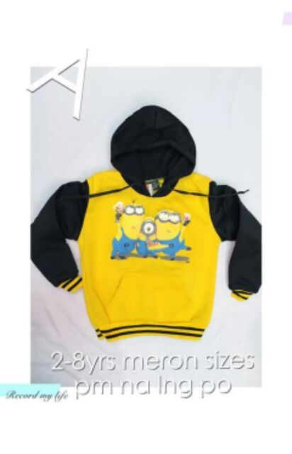 Boys Coat Jacket Minions 2-8 Years Old