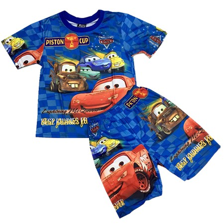 Baby & Kids Character/Cars Terno T Shirt+Shorts For Boys Set
