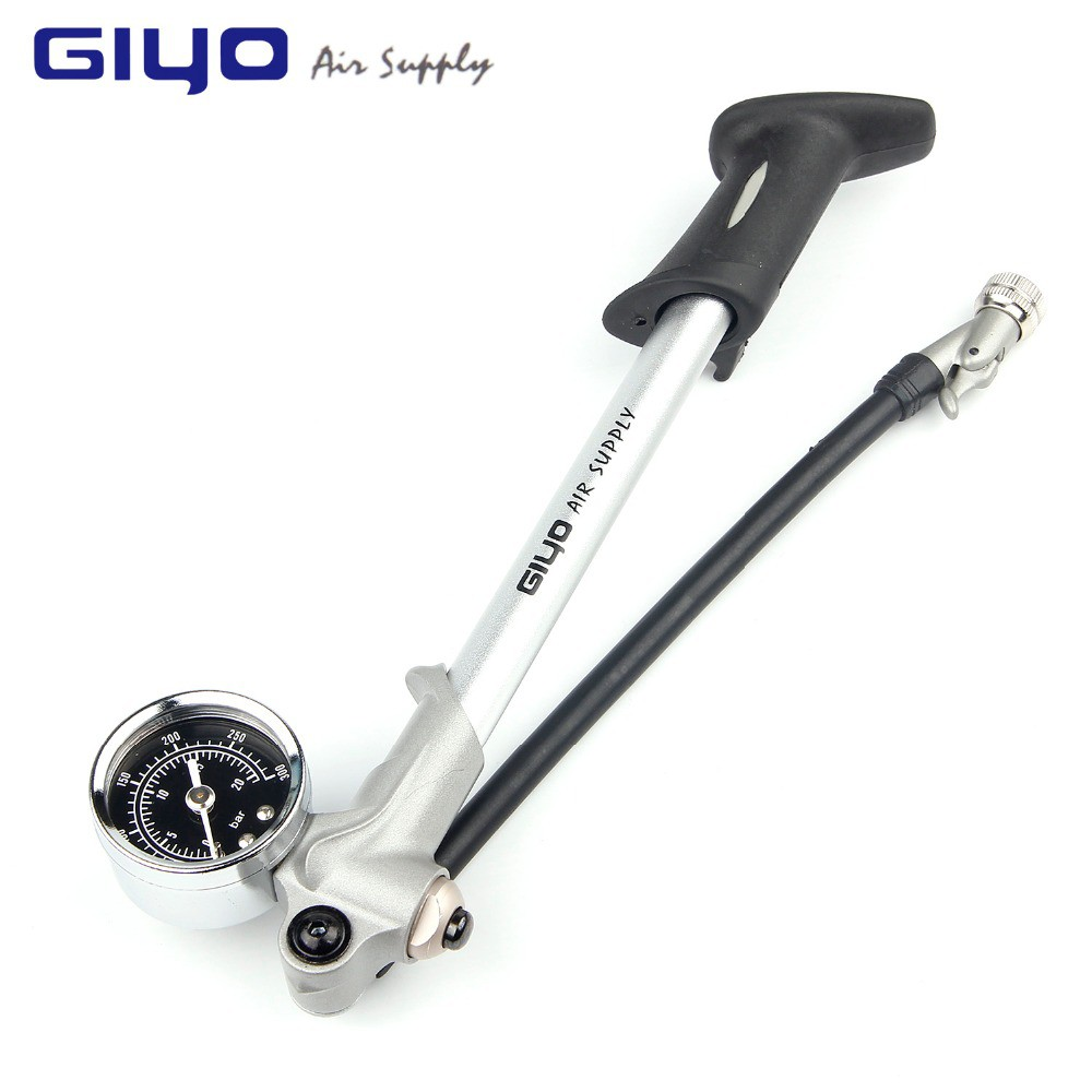 GS-02D 300 Psi High-pressure Air Pump Tire Inflate Tool Bicycle Alloy Shock Pump