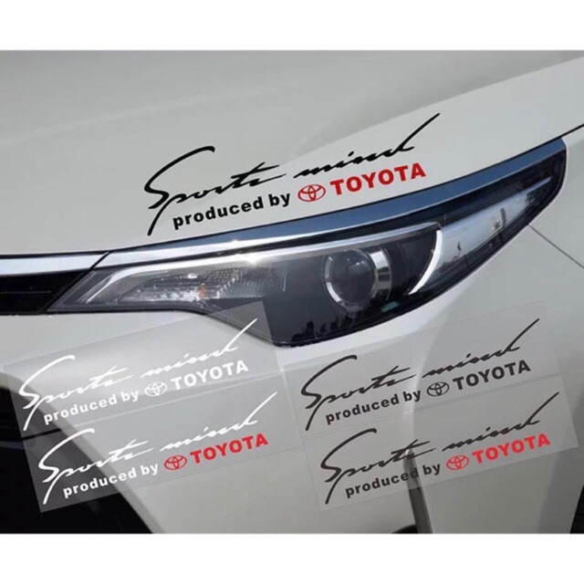 1PCS Car TOYOTA Light Eyebrow Sticker B-13